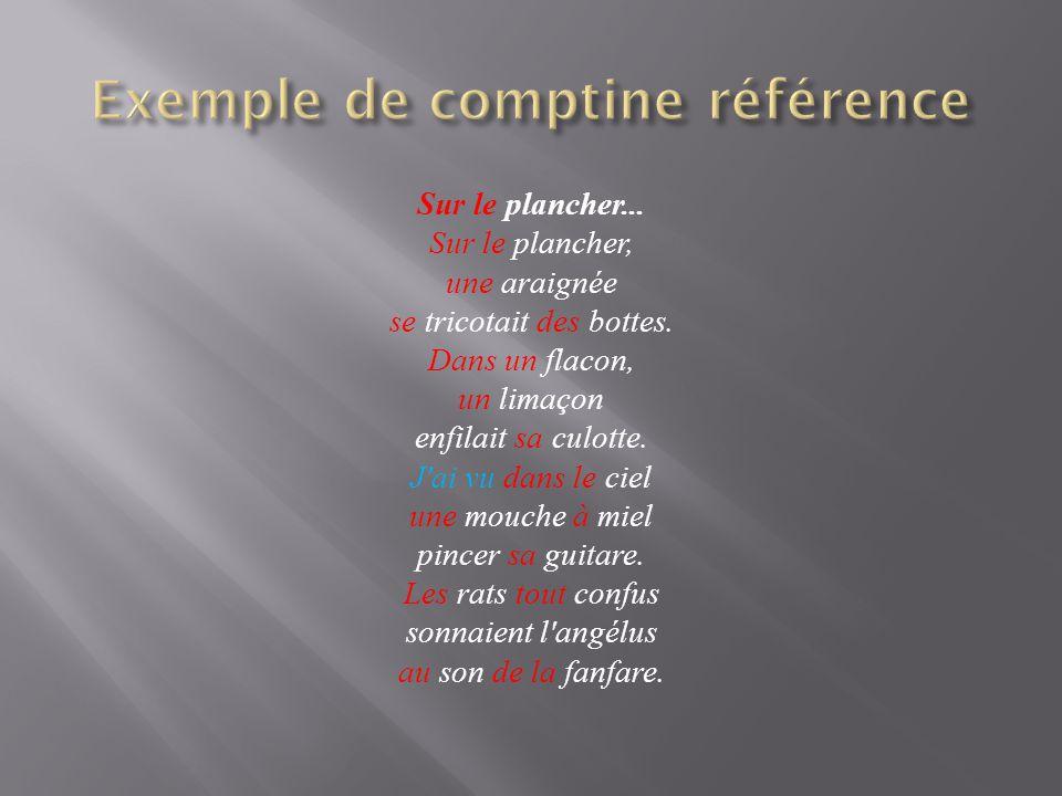 Exemple de comptine référence