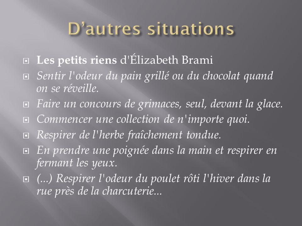 D'autres situations Les petits riens d Élizabeth Brami