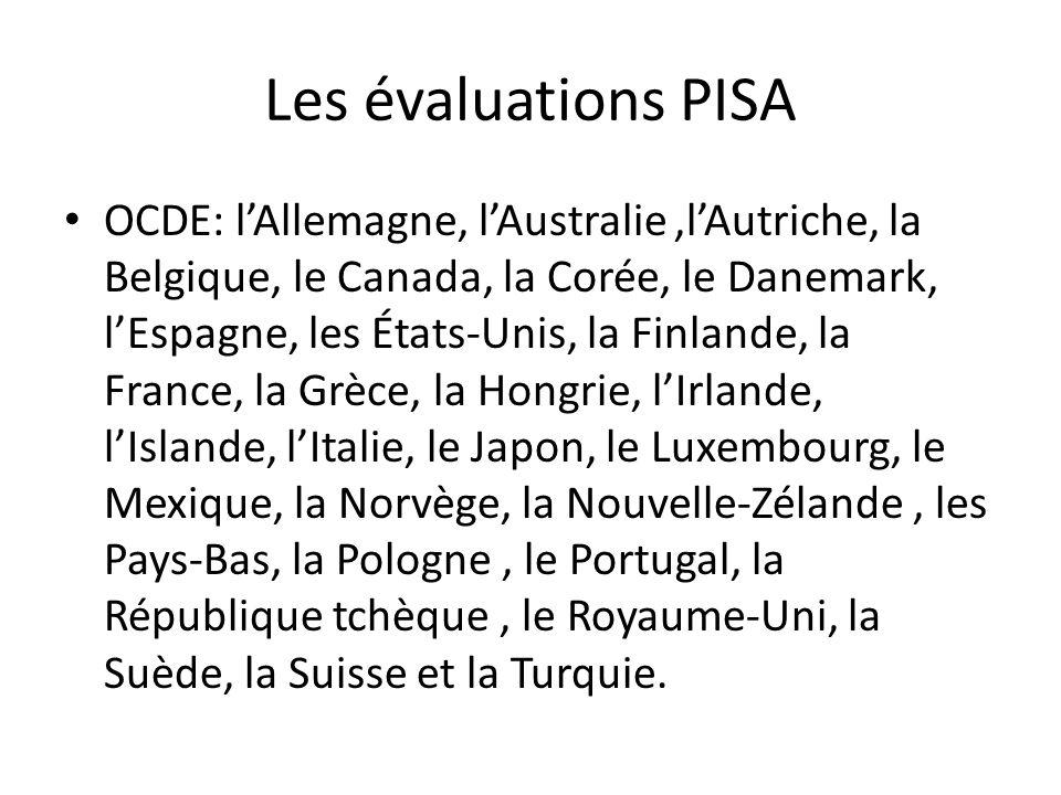 Les évaluations PISA