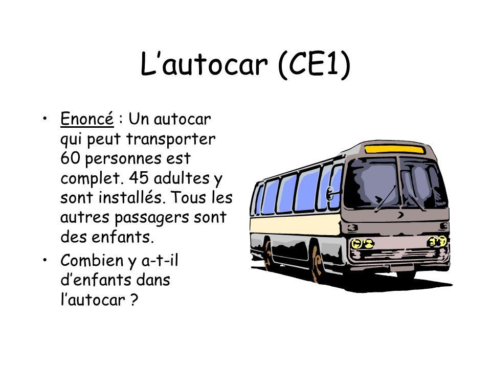 L'autocar (CE1)