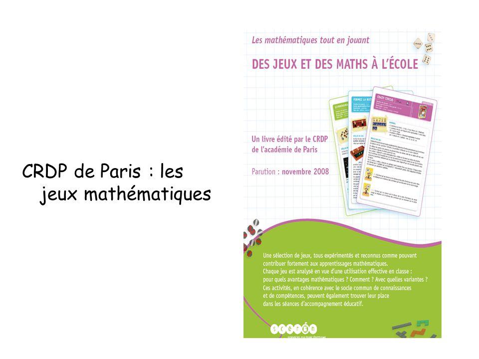 CRDP de Paris : les jeux mathématiques