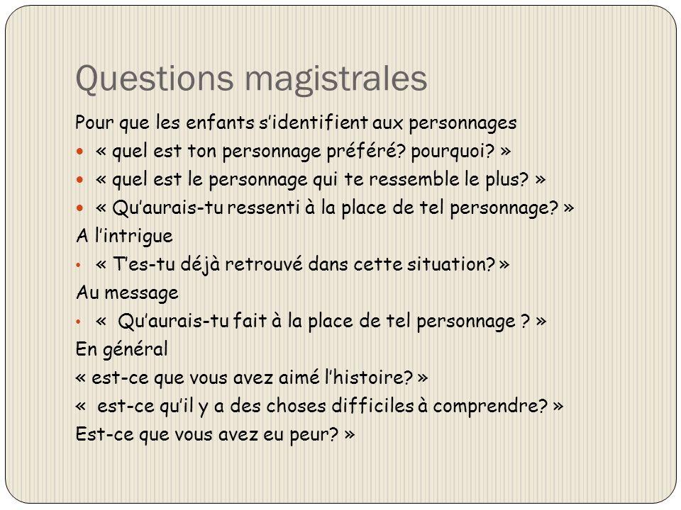 Questions magistrales