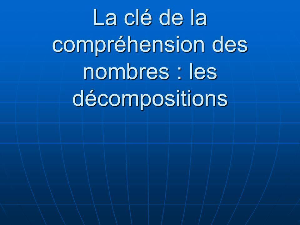 La clé de la compréhension des nombres : les décompositions