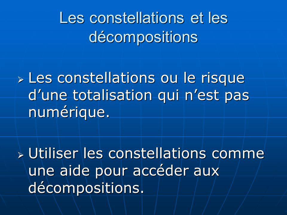 Les constellations et les décompositions