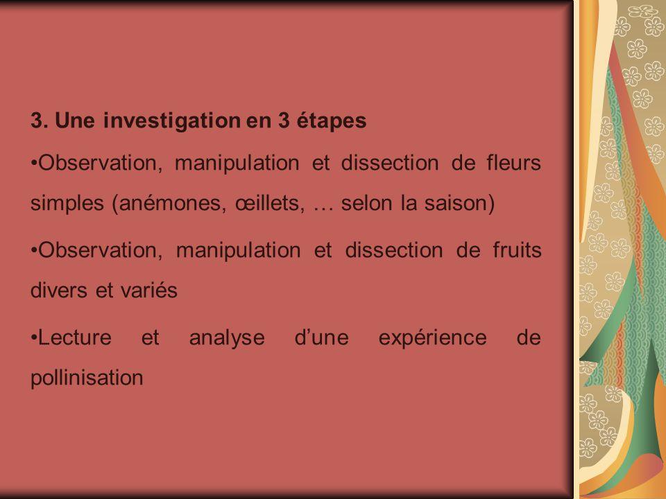 3. Une investigation en 3 étapes