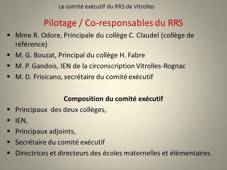 Le comité exécutif du RRS de Vitrolles
