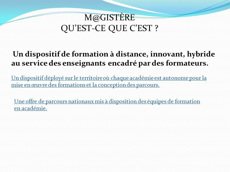 M@GISTÈRE QU'EST-CE QUE C'EST