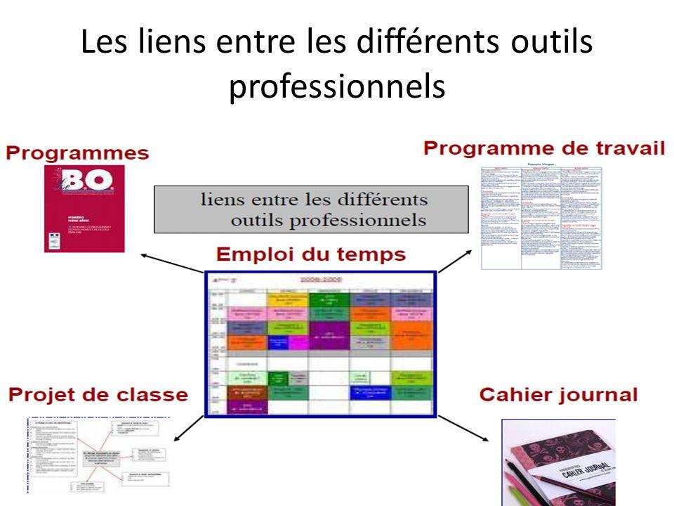 Les liens entre les différents outils professionnels