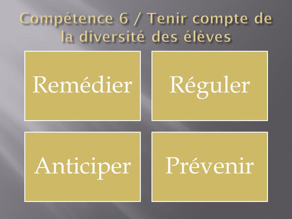 Compétence 6 / Tenir compte de la diversité des élèves