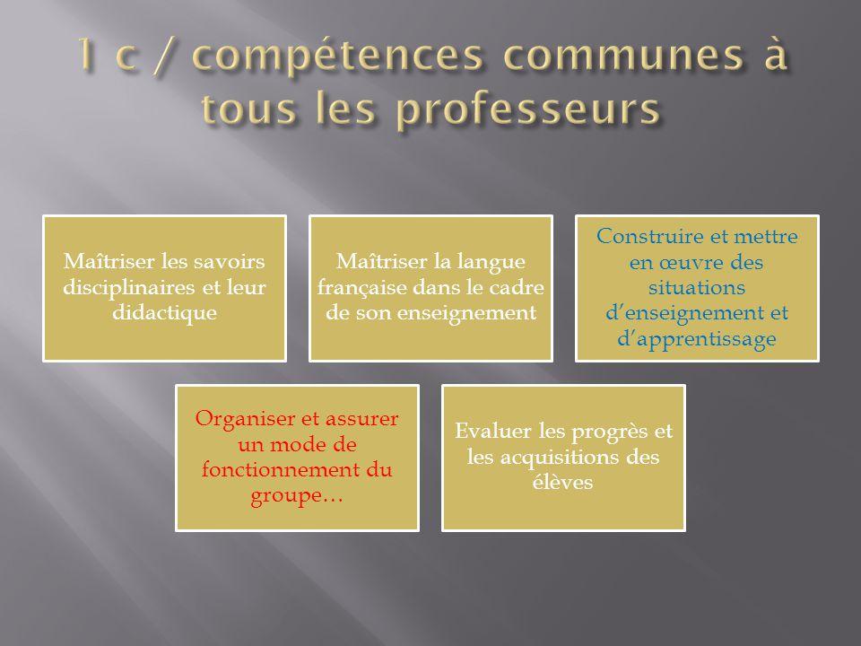 1 c / compétences communes à tous les professeurs