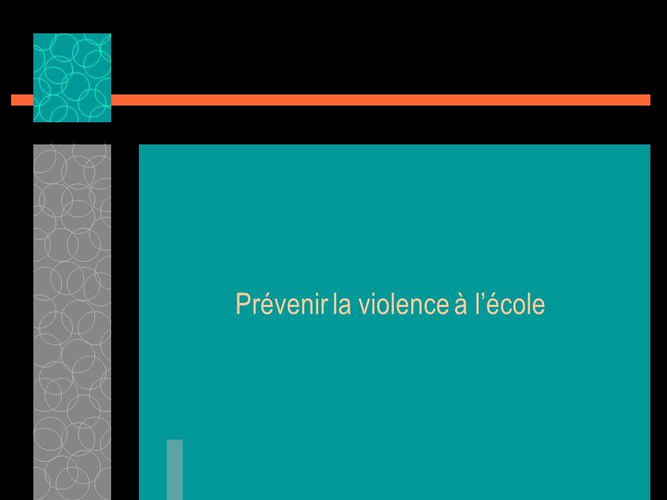 Prévenir la violence à l'école