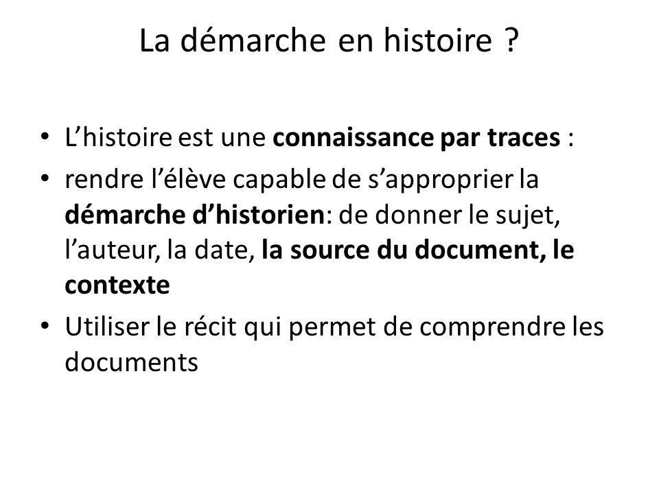 La démarche en histoire