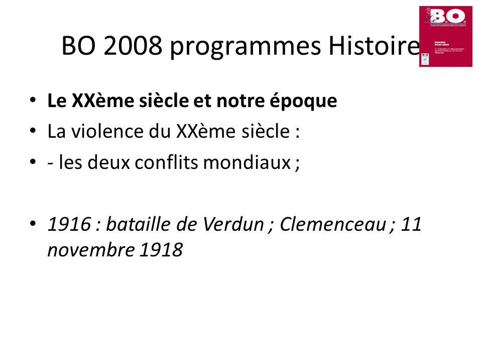 BO 2008 programmes Histoire