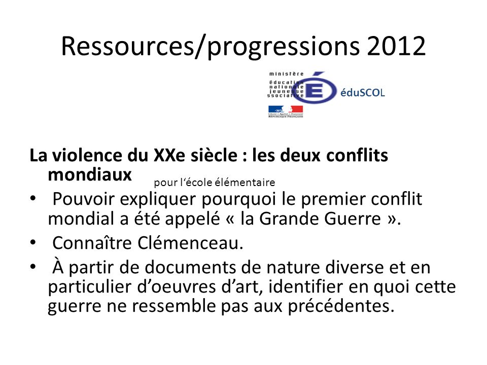 Ressources/progressions 2012