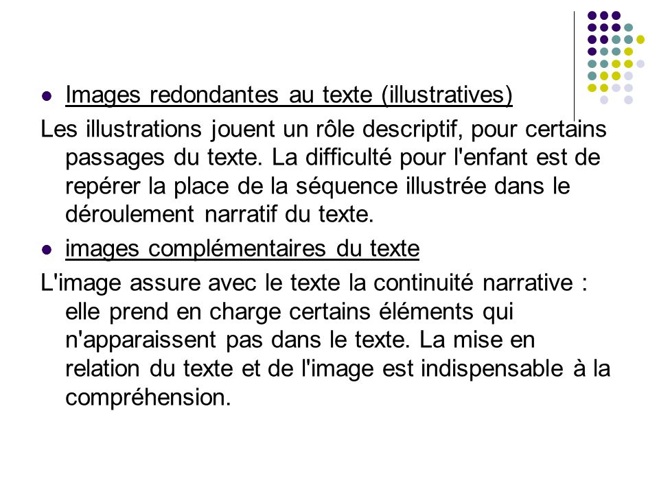 Images redondantes au texte (illustratives)