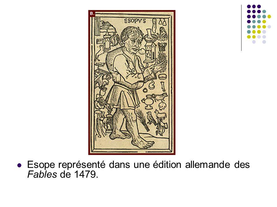 Esope représenté dans une édition allemande des Fables de 1479.