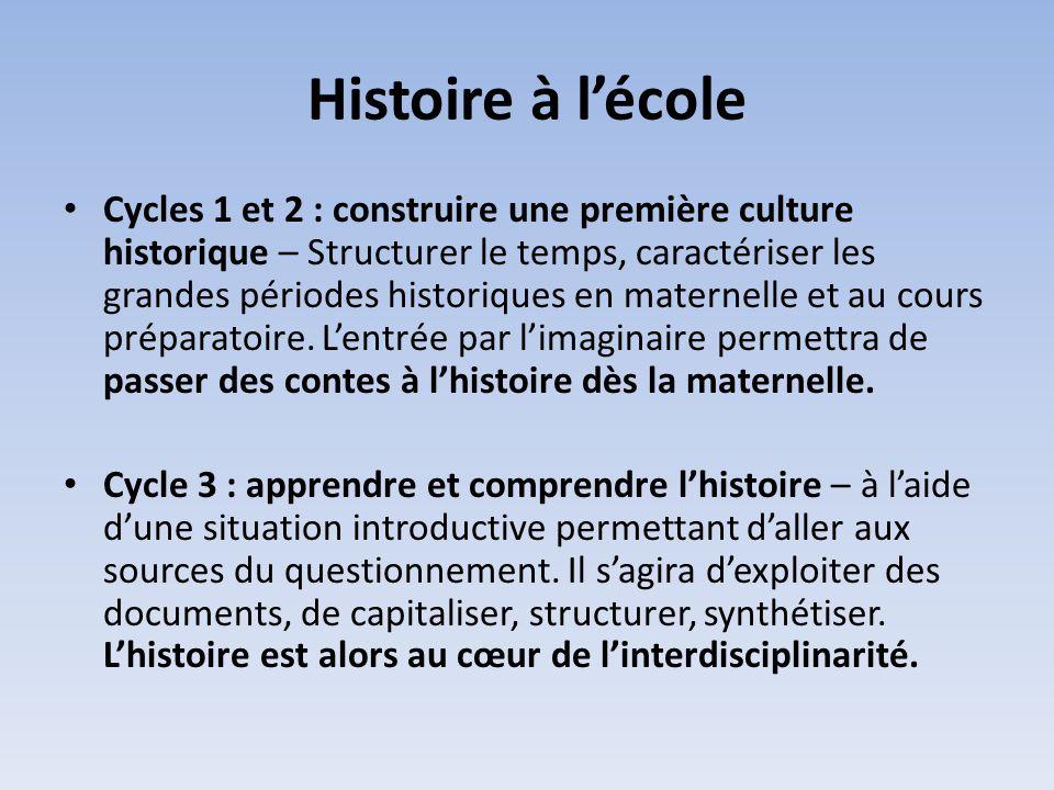Histoire à l'école