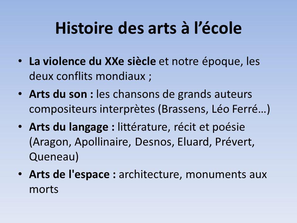 Histoire des arts à l'école