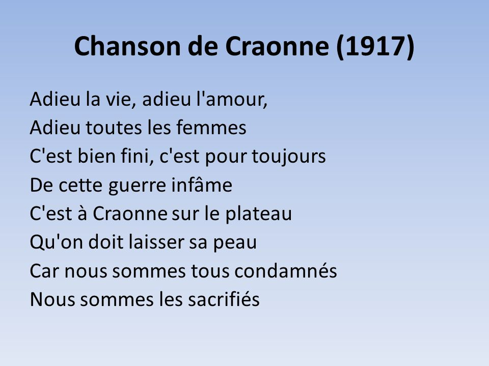 Chanson de Craonne (1917)