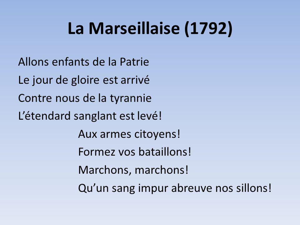 La Marseillaise (1792)