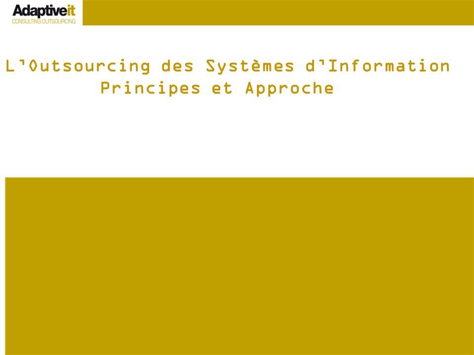 L'Outsourcing des Systèmes d'Information