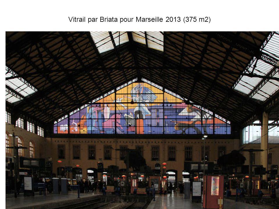 Vitrail par Briata pour Marseille 2013 (375 m2)