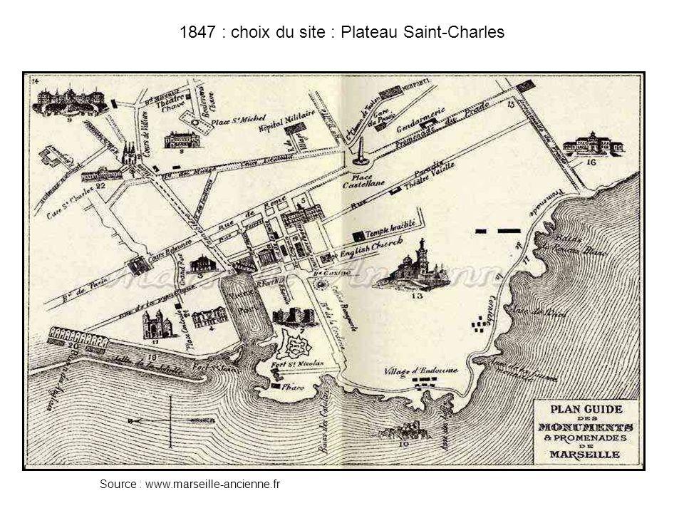 1847 : choix du site : Plateau Saint-Charles