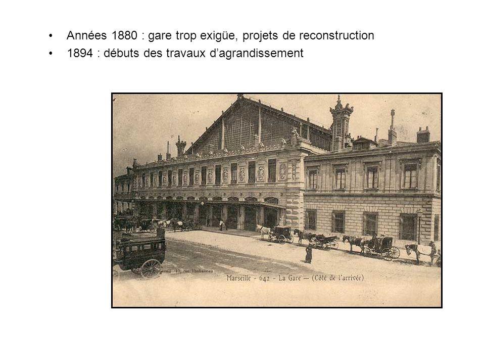Années 1880 : gare trop exigüe, projets de reconstruction