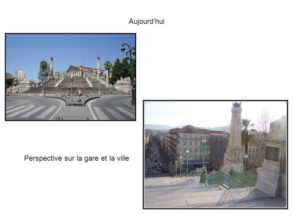 Aujourd'hui Perspective sur la gare et la ville