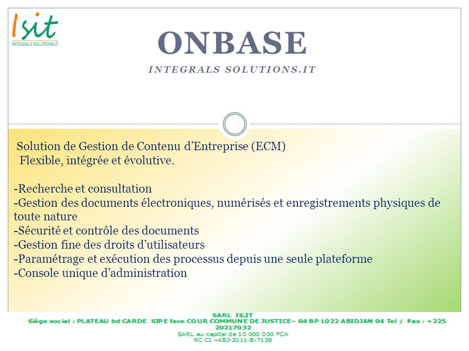 onbase Integrals solutions.it