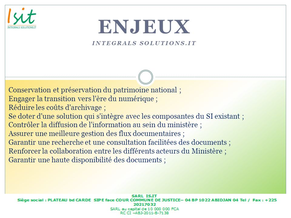 enjeux Integrals solutions.it
