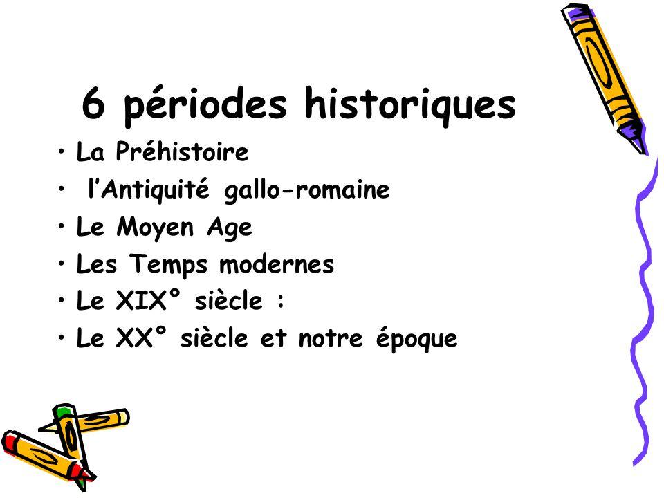 6 périodes historiques La Préhistoire l'Antiquité gallo-romaine