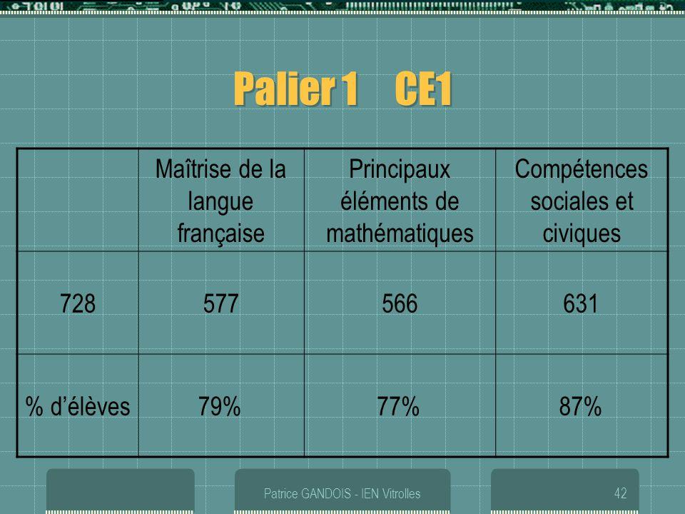 Palier 1 CE1 Maîtrise de la langue française
