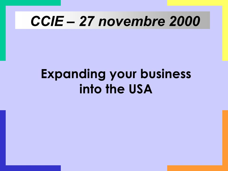 Expanding your business into the USA