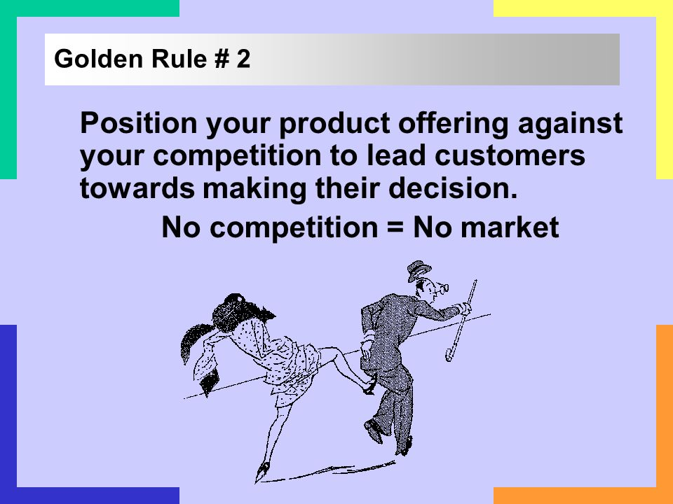 No competition = No market