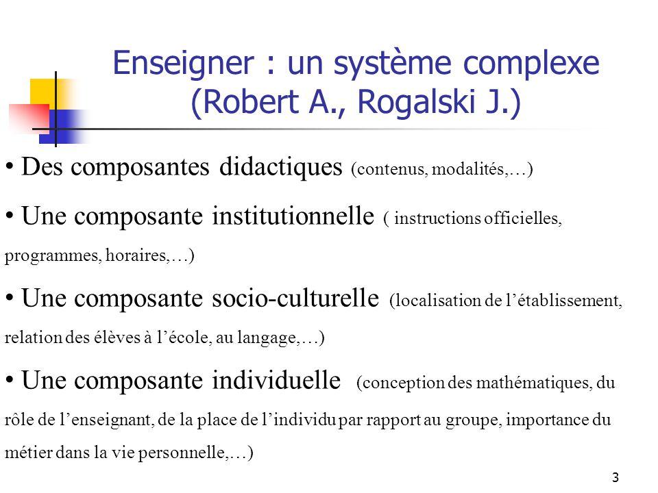 Enseigner : un système complexe