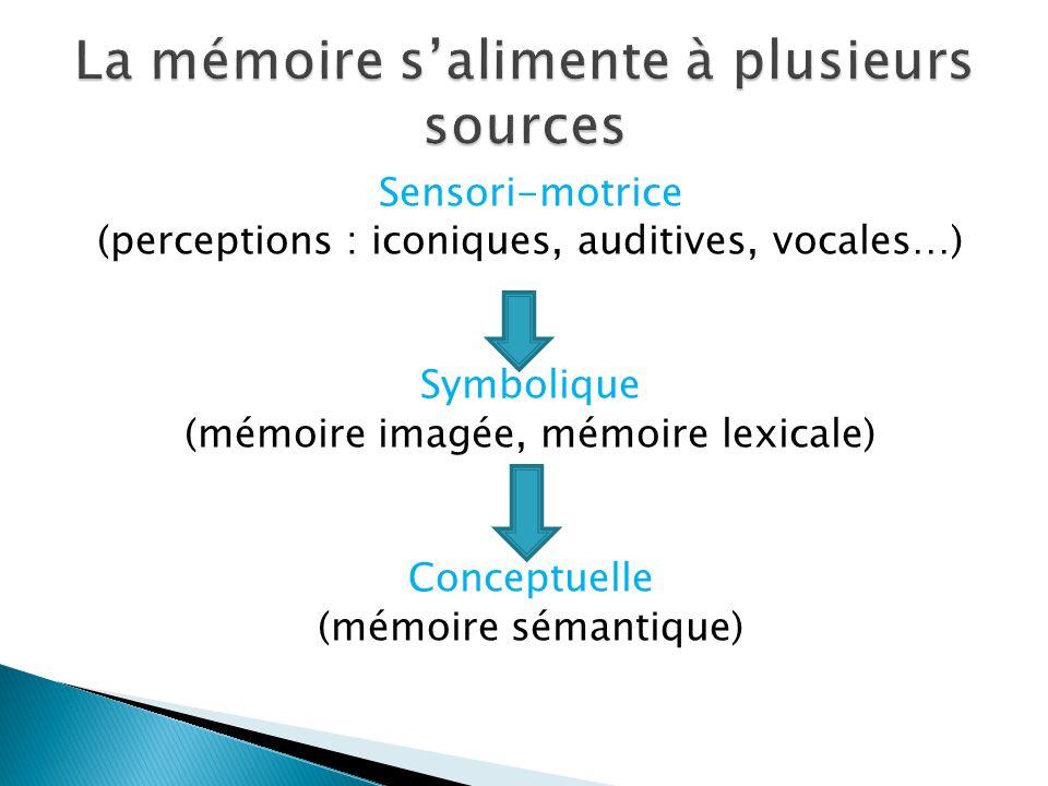 La mémoire s'alimente à plusieurs sources