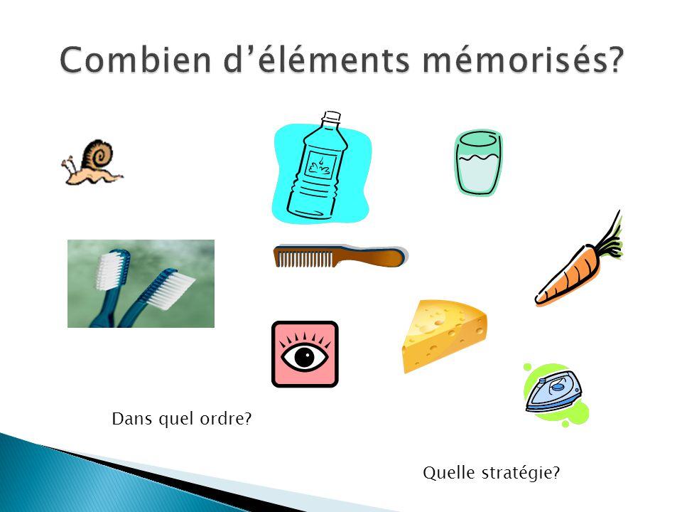 Combien d'éléments mémorisés
