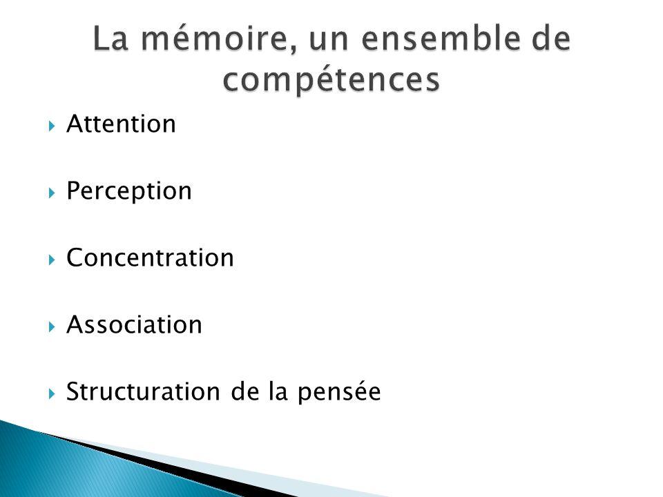 La mémoire, un ensemble de compétences