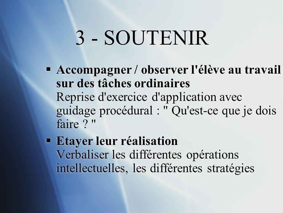 3 - SOUTENIR