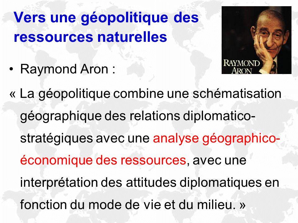 Vers une géopolitique des ressources naturelles