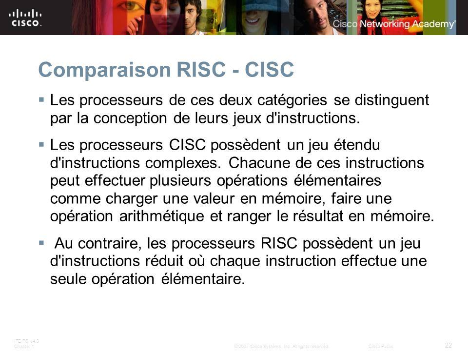 Comparaison RISC - CISC