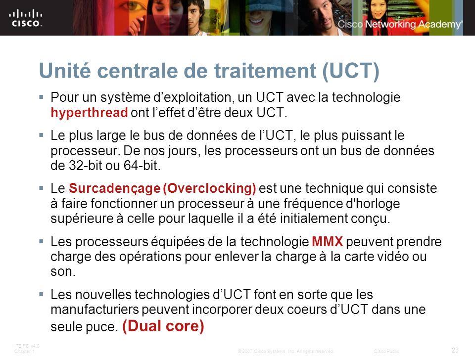 Unité centrale de traitement (UCT)