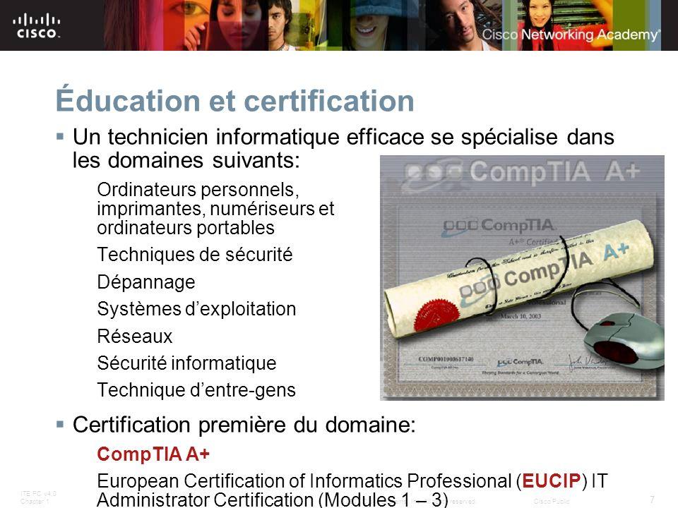 Éducation et certification