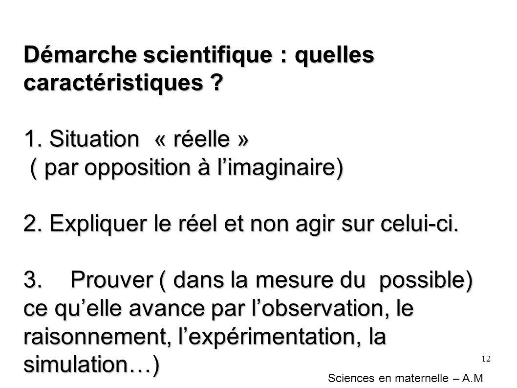 Démarche scientifique : quelles caractéristiques