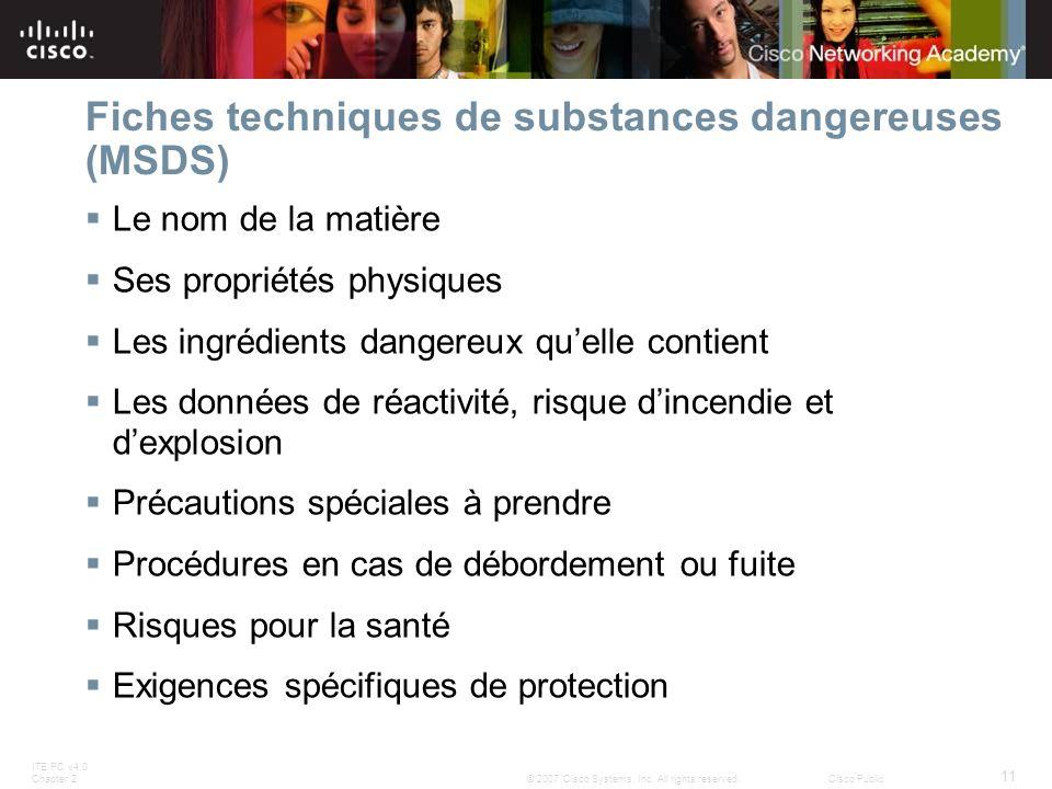 Fiches techniques de substances dangereuses (MSDS)