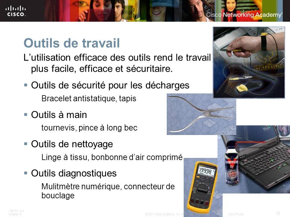 Outils de travail L'utilisation efficace des outils rend le travail plus facile, efficace et sécuritaire.