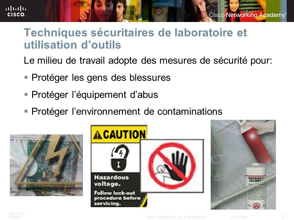 Techniques sécuritaires de laboratoire et utilisation d'outils