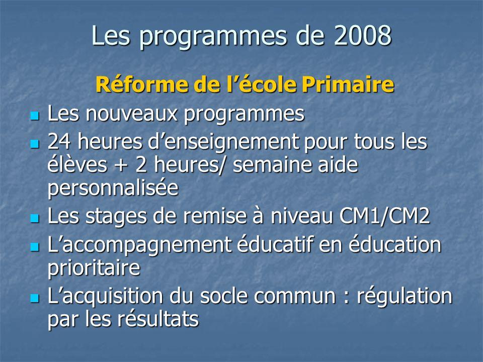 Réforme de l'école Primaire