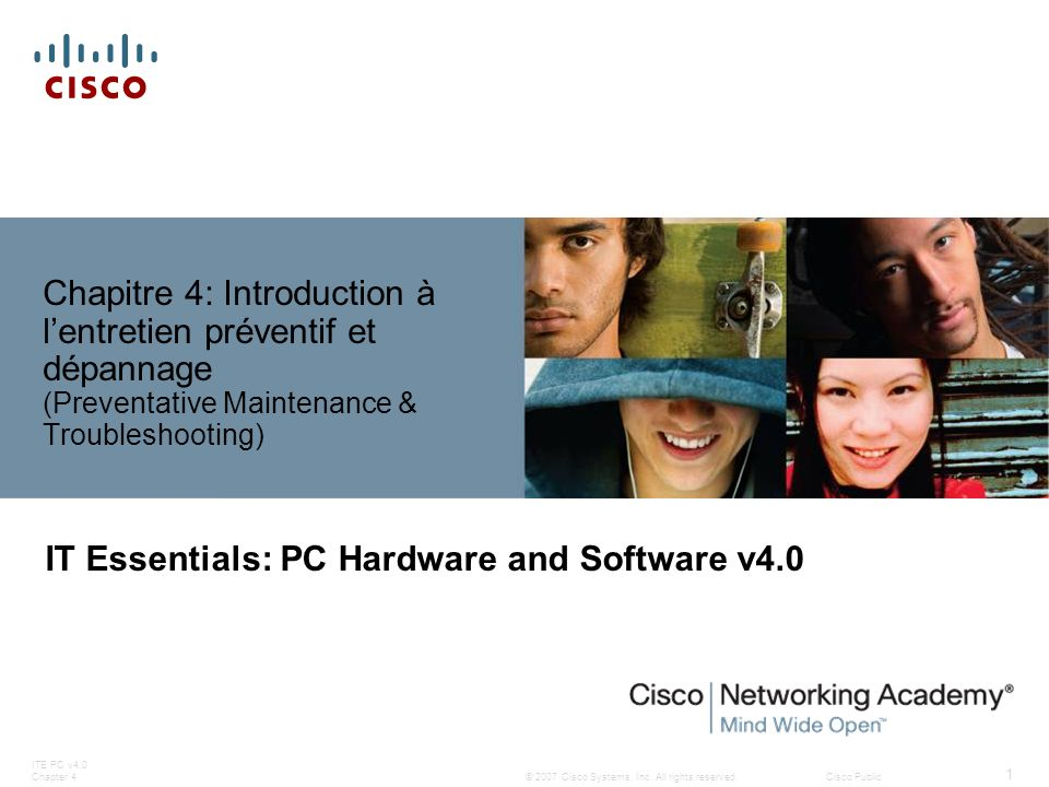 IT Essentials: PC Hardware and Software v4.0